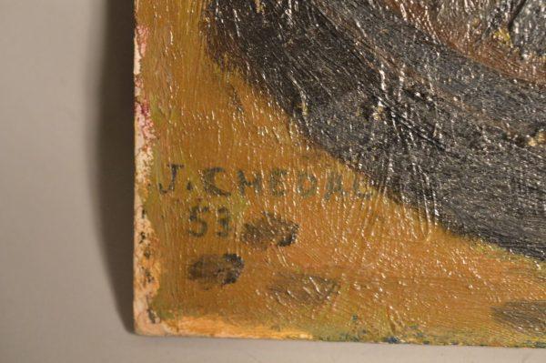 """Jean CHEDAL (1904-?) """"les deux barques"""""""