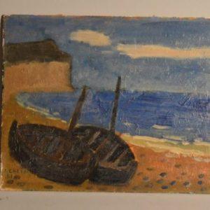 """Jean CHEDAL - Nature morte """"les deux barques"""""""