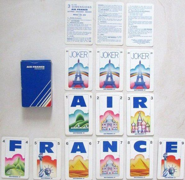 Jeu de 54 cartes Air France Concorde / 1978