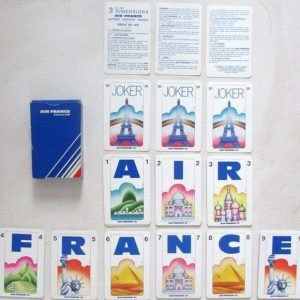 Jeu de 54 cartes Air France Concorde / 1978