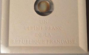 Un Ultime Franc-Pièce de la Monnaie de Paris -de STARCK