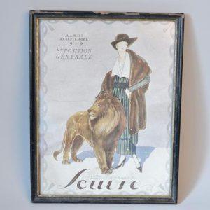 Affiche encadré: grand magasins du Louvre de l'exposition générale 1919
