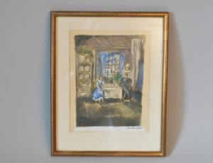 Hermine DAVID (1886-1970) -Scène d'intérieur