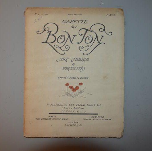 Revue mensuelle Gazette DU BON TON (N°1-1921- 4e Année)