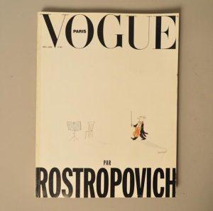 Vogue Paris - 702 - Decembre/Janvier 1990 par Rostropovich - Couverture par Sempé