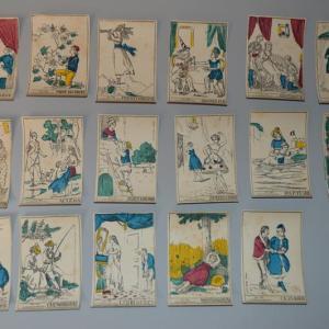 Typo vert - jeu de carte ancien XIX - napoléon - révolutionnaire