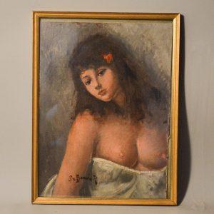 Giosue DE BENEDICTIS (1874-1958): Portrait de jeune femme