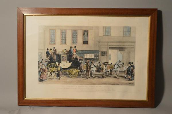George Havell: The Blenheim Leaving The Star Hotel, Oxford