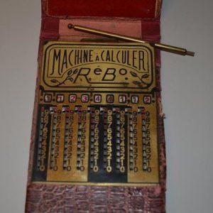 Additionneur à crémaillère Rébo Machine à Calculer