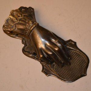 Main de dame Victorienne, pince à courrier en laiton - Angleterre