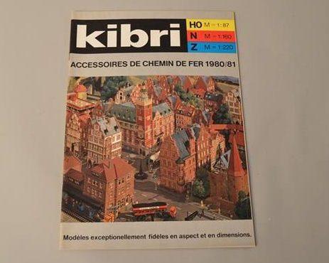 Kibri : Catalogue accessoires de chemin de fer 1980/81