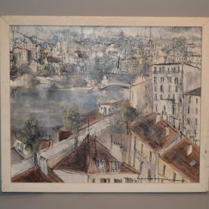 Marcel CHARBONNEL (XX) - Tableau Paris La Seine