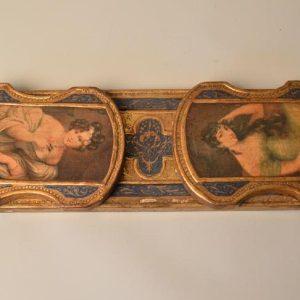 Serre-livres extensible en bois doré époque XIX