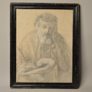 Pierre Laplanche (1803–1882) - Dessin Vielle homme - Avignon