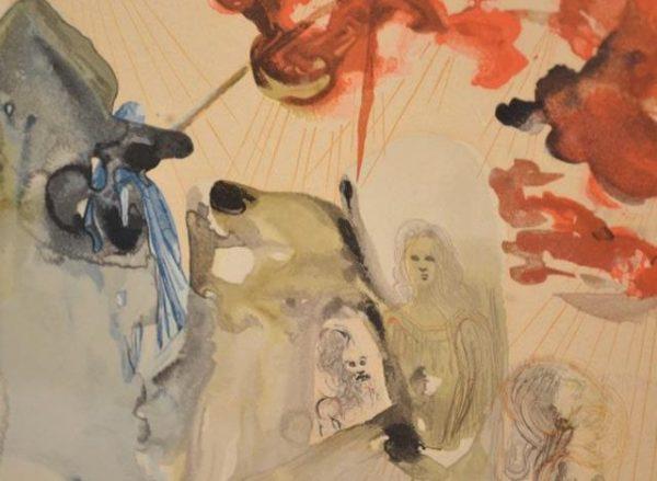 Salvador Dali (1904-1989) - Divine Comédie - La Forêt Divine - Bois gravé