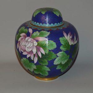 Vase Japonais en émaux cloisonné à décor naturaliste