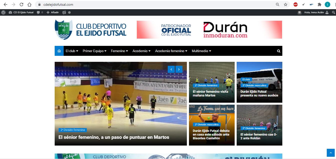 El CD El Ejido Futsal lanza su nueva web