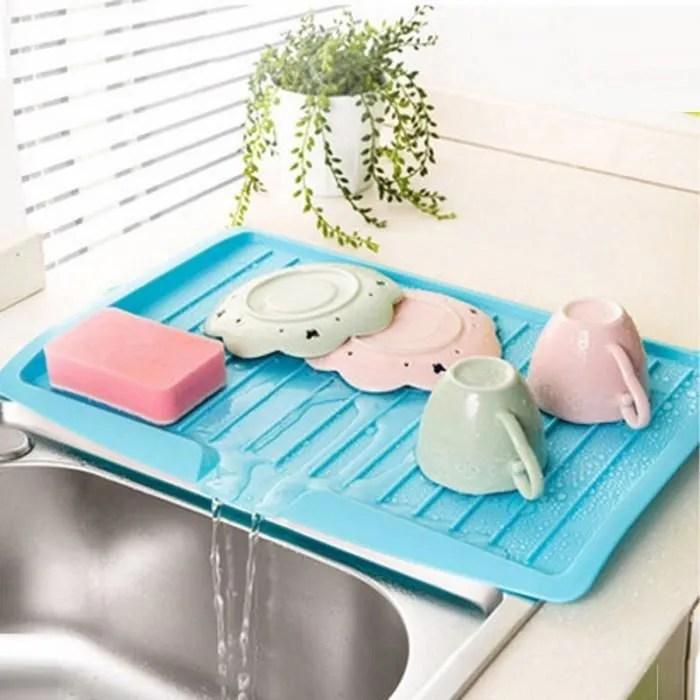version bleu plan de travail en plastique egouttoir a vaisselle grand evier cuisine support etageres sechage passoires 28 31