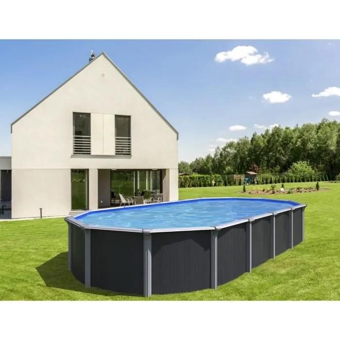 piscine ovale metal hors sol 5 20 x 3 95 x 1 32m g
