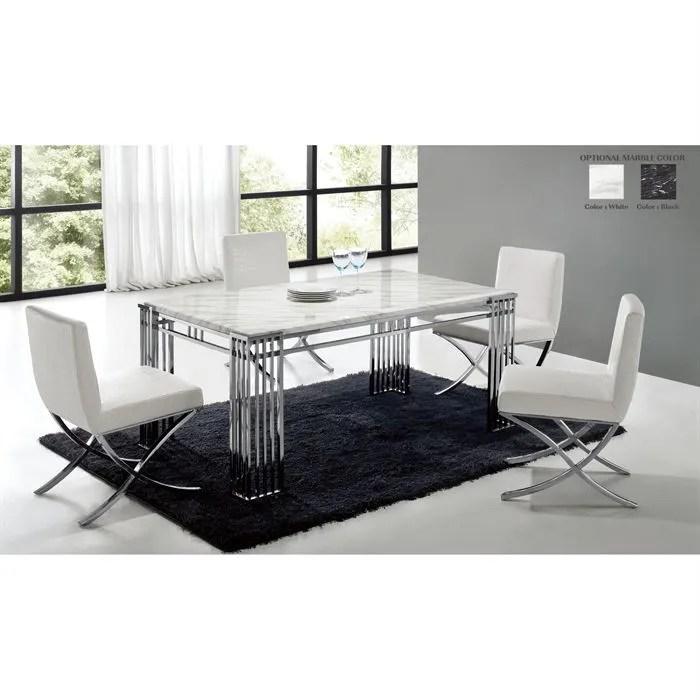 table de repas en marbre blanc et