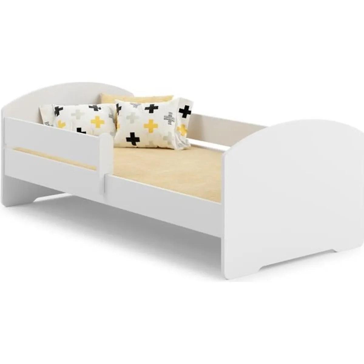 lit enfant avec sommier et matelas barriere de securite