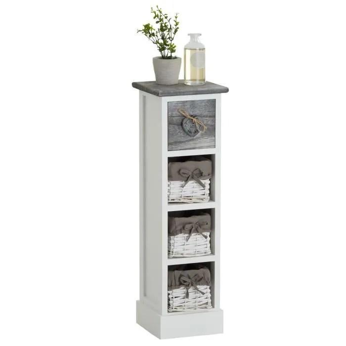 petit meuble tiroir gris