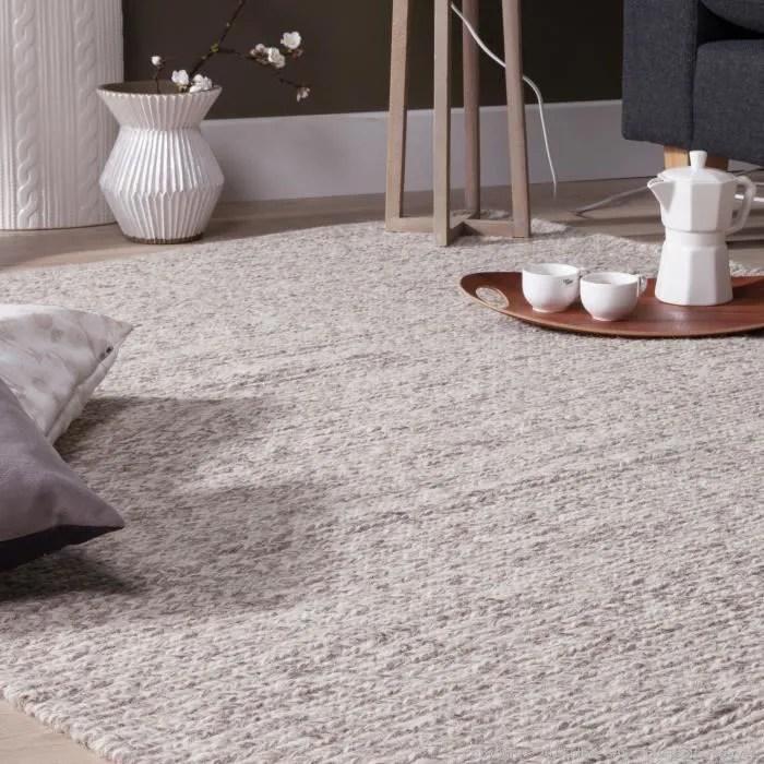 gris motifs tresse chandak 200x290cm