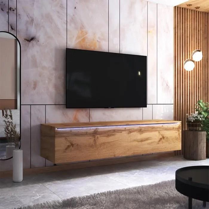 meuble tv skylara 180 cm chene