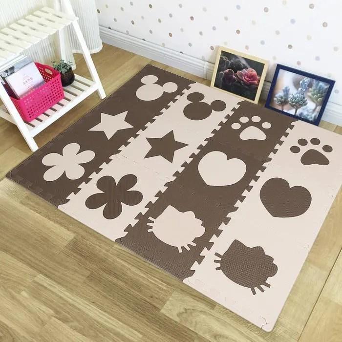 24 pcs dalles mousse doux tapis pour enfants bebe