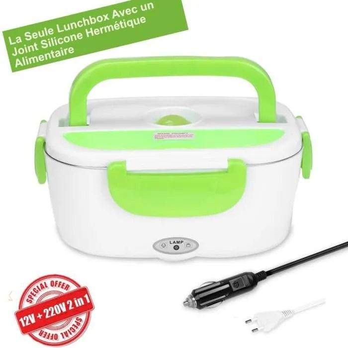 cggk tech boite chauffante hermetique gamelle lunch box electrique 12v 220v qualite alimentaire pour repas chaud en acier inox