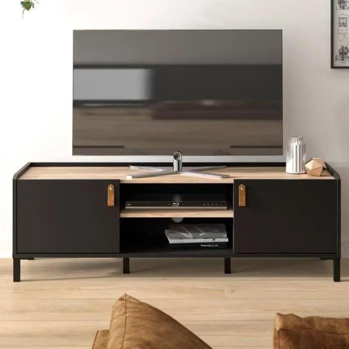 meuble tv bois et fer