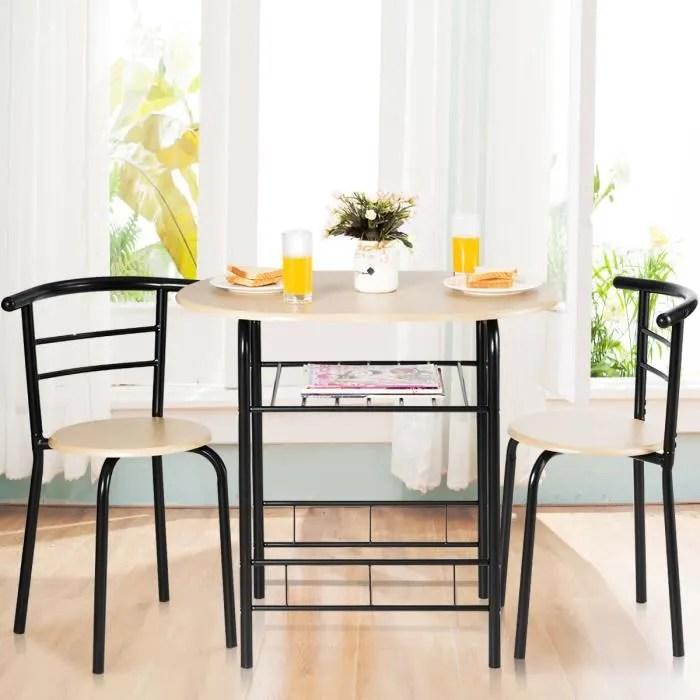 costway table de cuisine avec 2 chaises