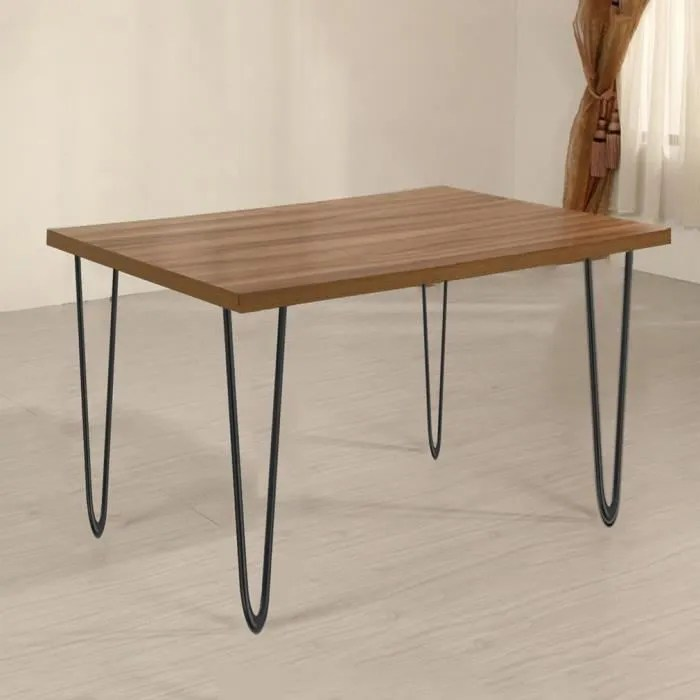 4 pieds de table en epingle a cheveux de 41cm en fer pied remplacement de tables chaises meuble diy noir