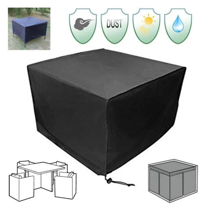 tempsa housse de protection table de jardin bache pluie couverture exterieur meuble 115x115x75cm