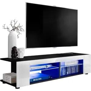 meuble tv spider big a led en blanc mat