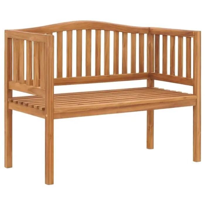 banquette de jardin exterieure 2 3 places a l exterieur banc de jardin terrasse style contemporain 120 cm bois de teck solide