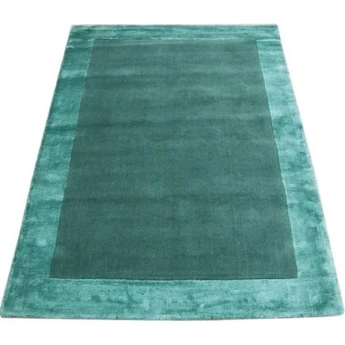 novatrend tapis laine fait main tosca bleu tur