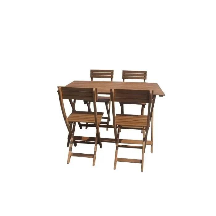 table de jardin teck 4 personnes