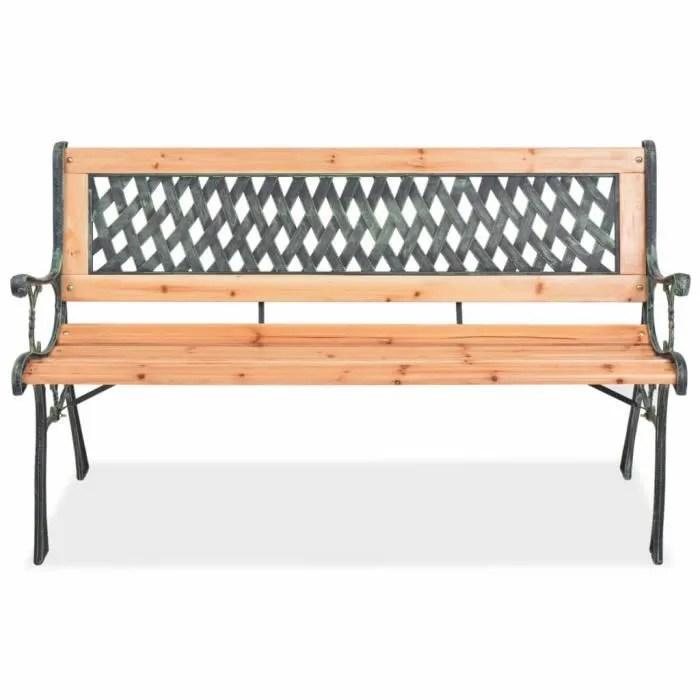 banc de jardin d exterieur design en bois et fer 1