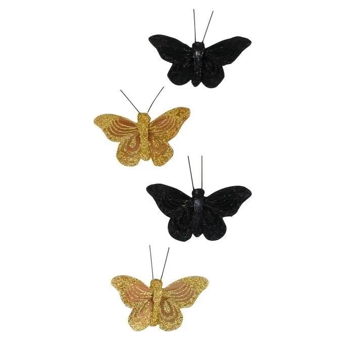 aimants plumes pour rideaux decor papillon coule