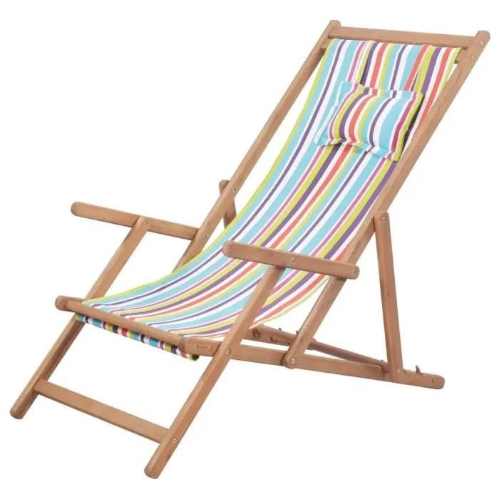 haute qualite chaise de plage pliante tissu multic