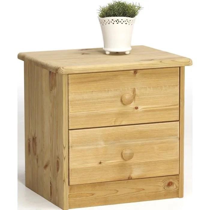 table de chevet en pin massif avec 2