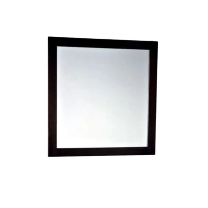miroir 80 x 80 cm cadre wenge ipeca