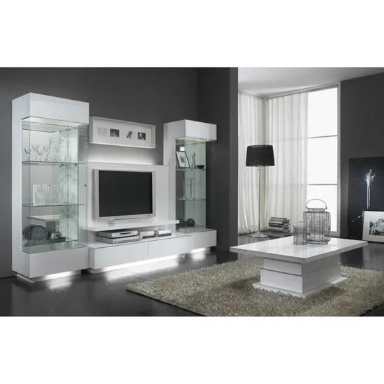 meuble tv plasma moderne coloris blanc