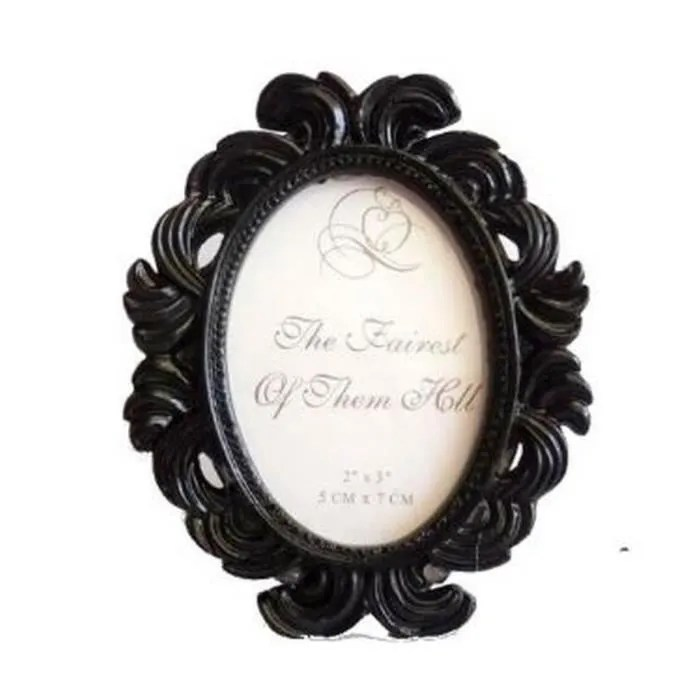 cadre baroque noir marque table nom numero table mariage