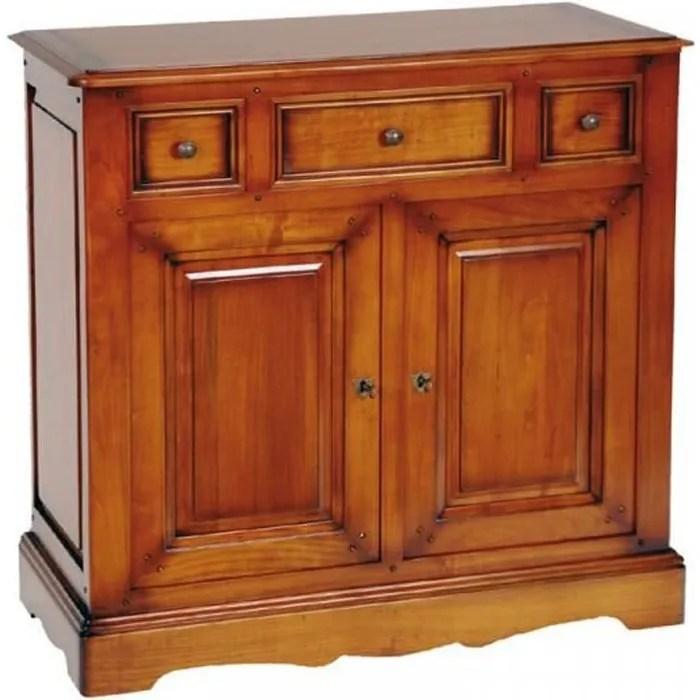 meuble d entree merisier massif moliges bois bois l 88 x l 38 x h 87 cm meuble d entree