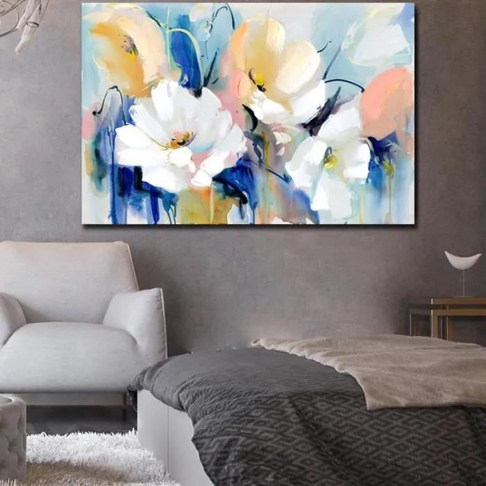 1pcs 60x90cm fleurs peinture sur toile tableau decoration murale salon peinture sur toile toile peinture sans cadre sh 0882