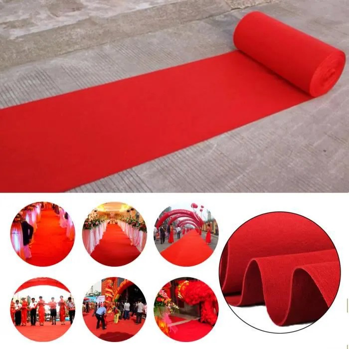 tempsa 5mx 1m tapis rouge intisse decoration salle