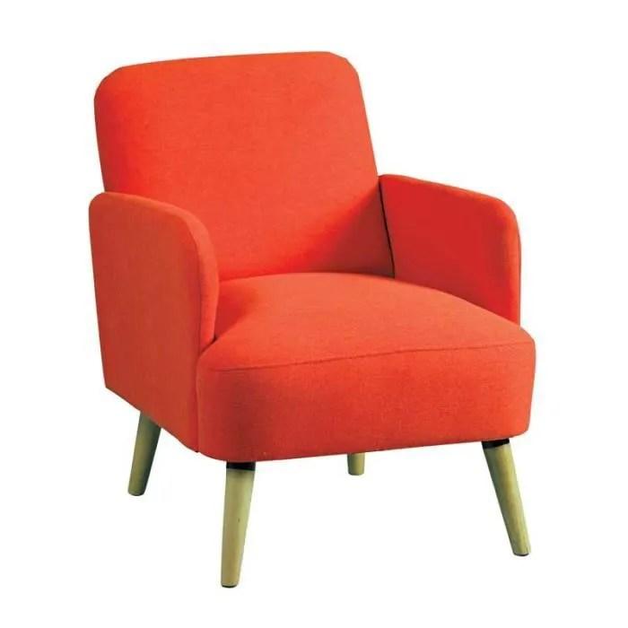 fauteuil orange style scandinave bodo