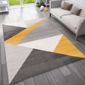 tapis geometrique jaune